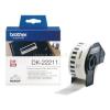 Brother Etikett címke DK22211, Fehér alapon fekete, filmrétegű szalag tekercsben 29mm, 29mm x 15.24M (DK22211)