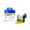 Brother Etikett címke DK22606, Sárga alapon fekete, filmrétegű szalag tekercsben 62mm, 62mm x 15.24M (DK22606)