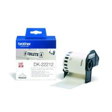 Brother Feliratozógép filmszalag, 62mm x 15,24m, , fehér etikett