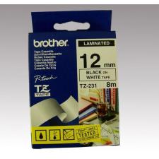 Brother Feliratozógép szalag, 12 mm x 8 m, BROTHER, fehér-fekete nyomtató kellék