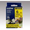 Brother Feliratozógép szalag, 6 mm x 8 m, BROTHER, sárga-fekete