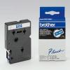 Brother TC-595, 9mm x 7,7m, fehér nyomtatás / kék alapon, eredeti szalag
