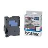 Brother TX-253, 24mm x 8m, kék nyomtatás / fehér alapon, eredeti szalag