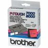 Brother TX-451, 24mm x 15m, fekete nyomtatás / piros alapon, eredeti szalag