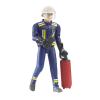 Bruder 60100 Bworld Figura Tűzoltó kiegészítőkkel