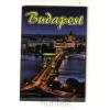 Budapest hűtőmágnes - Lánchíd éjjel 9,5x 6,5cm