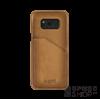 BUGATTI Londra Samsung G955 Galaxy S8+ valódi bőr hátlap tok kártyatartóval, homok
