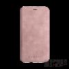 BUGATTI Parigi Apple iPhone X valódi bőr flip tok kártyatartóval, rózsaszín