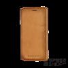 BUGATTI Parigi Samsung N950 Galaxy Note 8 valódi bőr flip tok kártyatartóval, homok