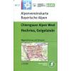 BY17: Chiemgauer Alpen West turistatérkép - Alpenvereinskarte