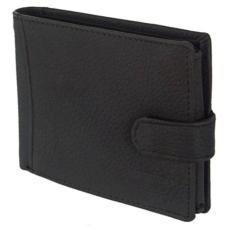 by Lupo Kívül-belül kapcsos, hátul zsebes fekete bőr férfi pénztárca