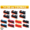 Canon nyomtatóhoz PGI550 - CLI551 chipes utángyártott tintapatron csomag, 14 darabos