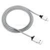 Canyon Szövetbevonatos iPhone, iPad, iPod USB - Lightning Apple MFI kábel szürke (CNS-MFIC3DG)