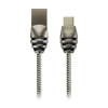 Canyon USB 2.0 A / Type-C stílusos fém 1m szürke