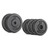 Capital Sports CAPITAL SPORTS IPB 15 kg set, súlytárcsa készlet, 4 x 1,25 kg + 2 x 5 kg, 30 mm