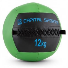 Capital Sports Wallba 12, zöld, 12 kg, wall ball, műbőr medicinlabda