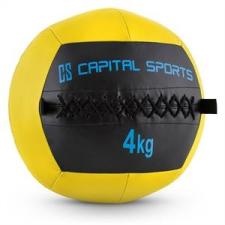 Capital Sports Wallba 4, sárga, 4 kg, wall ball, műbőr medicinlabda