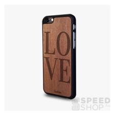 CAPTAINS Captain`s Love iPhone 6/6s mahagóni fa borítású hátlap tok, fekete tok és táska