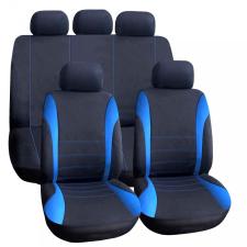 CARGUARD Autós üléshuzat szett - kék / fekete - 9 db-os csíkos ülésbetét, üléshuzat