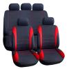 CARGUARD Autós üléshuzat szett - piros / fekete - 9 db-os - HSA007 (Autós üléshuzat szett)