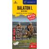 Cartographia Kft. Balaton I. - Keleti rész aktív térkép 1: 100 000 - Szabadidőtérkép