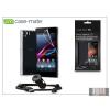 CASE-MATE Sony Xperia Z1 (C6903) hátlap (clear) + képernyővédő fólia + AN401 szivargyújtós töltő micro USB adatkábellel - Case-Mate 3in1