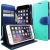 CASEOLOGY Caseology iPhone 6 (4.7'') Stand View Wallet oldalra nyíló flip tok, türkizkék