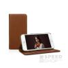 Caseual Leather Wallet Apple iPhone 7 Italian Brown bőr flip tok, barna