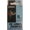 Casio Feliratozógép szalag, 6 mm x 8m, CASIO, víztiszta-fekete (GCXR6X1)