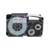 Casio XR-18WE1, 18mm x 8m, fekete nyomtatás / fehér alapon, eredeti szalag