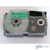 Casio XR-24GN1 utángyártott feliratozószalag kazetta zöld alapon fekete nyomtatás 24 mm * 8m