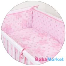 CEBA ágynemű huzat rácsvédővel 100x135 60x40cm Csillag pink Lux babaágynemű, babapléd