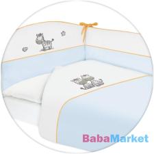 CEBA ágynemű huzat rácsvédővel 100x135 60x40cm hímzett Zebra kék babaágynemű, babapléd