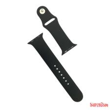 CELLECT Apple watch szilikon óraszíj, 42 mm, Fekete óraszíj