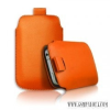 CELLECT iPhone 4/4S méretű slim bőr tok, Narancs