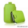 CELLECT iPhone 4/4S méretű slim bőr tok, Zöld