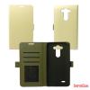 CELLECT LG K10 flip oldalra nyíló tok, fehér
