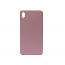 CELLECT Sony Xperia M4 / M4A bőrhatású műanyag hátlap, pink (rózsaszín) tok és táska