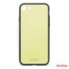 CELLECT Üveghátlapos szilikon tok, iPhone 8, Krém