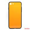 CELLECT Üveghátlapos szilikon tok, iPhone 8, Narancs
