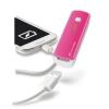 CELLULARLINE külső akkumulátor, hordozható USB POCKET CHARGER SMART, 2200 mAh, rózsaszín, kompakt méret
