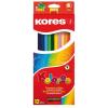 ceruza készlet, háromszögletű, KORES Triangular, 12 különböző szín, 12 db/készlet (IK100312)