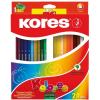 ceruza készlet, háromszögletű, KORES Triangular, 24 különböző szín, 24 db/készlet (IK100324)