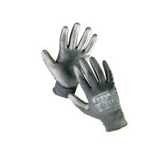 Cerva BUNTING Black nylon PU kesztyű - 10