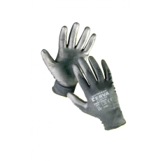 Cerva BUNTING Black nylon PU kesztyű - 7