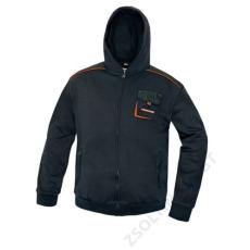 Cerva EMERTON kapucnis pulóver, fekete