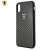 Cg mobile iPhone X 5.8 Ferrari műanyag telefonvédő (karbon minta) FEKETE