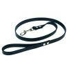 Chaba Bőr póráz, szín: fekete 10mm / 130cm
