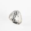 """""""Chapel"""" könnyű, áttört, ródiumozott felületű ezüst gyűrű"""