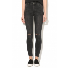 Cheap Monday , High Spray super skinny, szaggatott farmernadrág, Koptatott fekete, W32-L33 (0490146-BLACK-W32-L33)